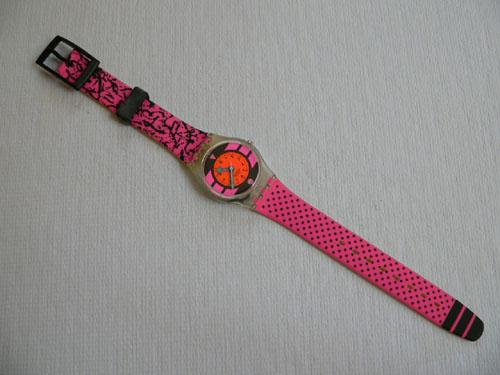 Pink Betty LK118 Swatch watch
