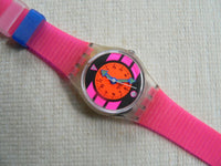 Pink Betty LK118V Swatch watch