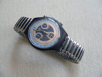 Silver Star Chrono Swatch Watch