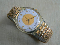 Golden Waltz Swatch Watch Gk143