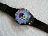 Black Inlay GB145 Swatch Watch