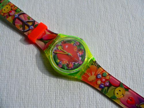 Love, Peace And Happiness GJ118 Swatch watch