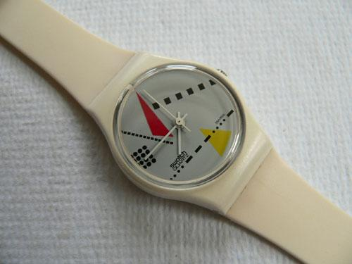 White Memphis LW102 Swatch Watch