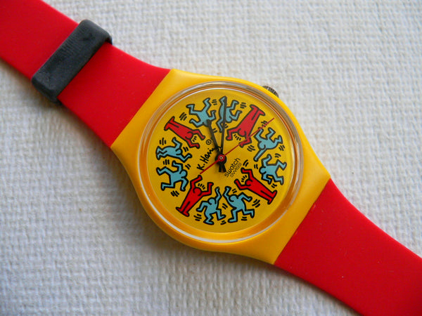 Modele Avec Personnages GZ100 Keith Haring Swatch Watch
