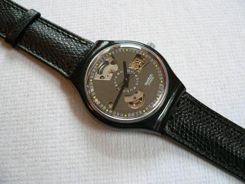 Black Motion Swatch Watch