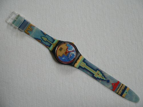 Blue Flamingo GN114 Swatch Watch