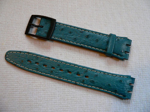 Blue leather band