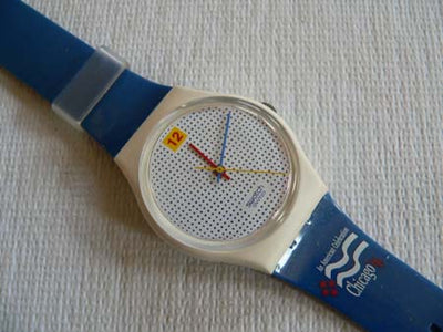 1996 Dotted Swiss Chicago Democratic convention Logo Swatch watch