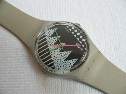 Grey Memphis GM100 Swatch Watch
