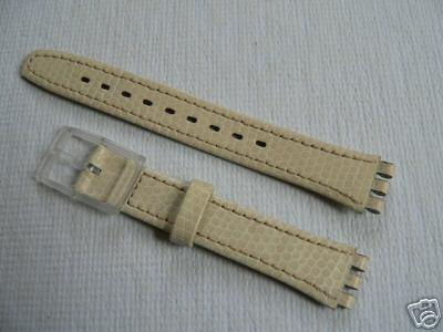 Lady off whit Leather band