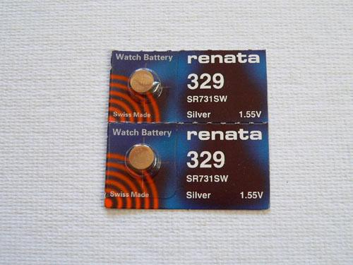 Renata Battery 329 LOT OF TWO