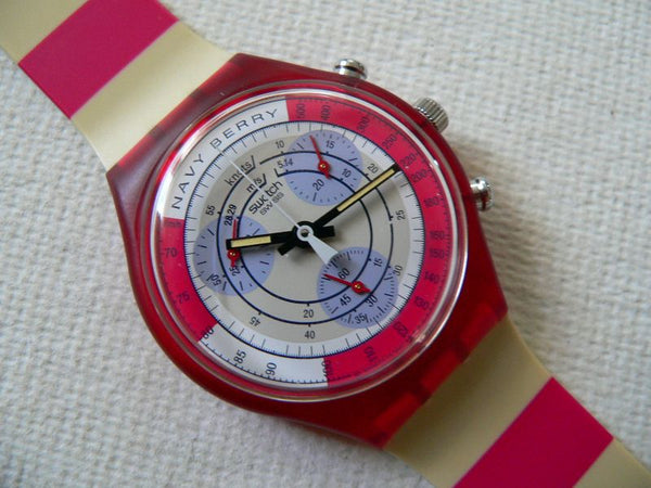Swatch Navy Berry SCR100