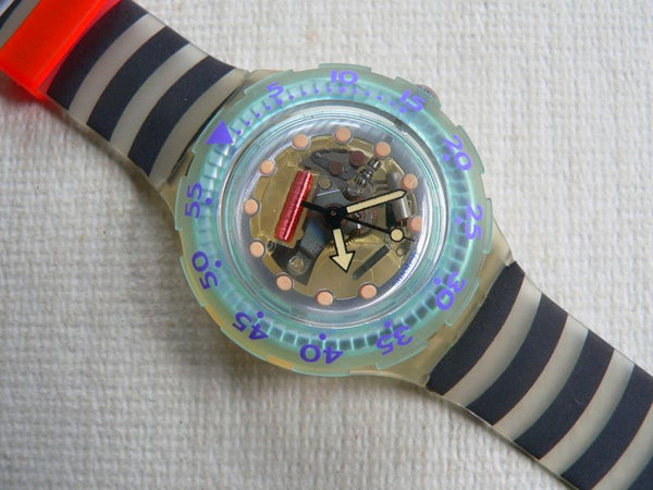 Zebra Jelly Bubbles SDK104Z Swatch Watch