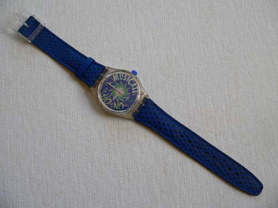 Swatch Watch Tone In Blue SLK100 Musical