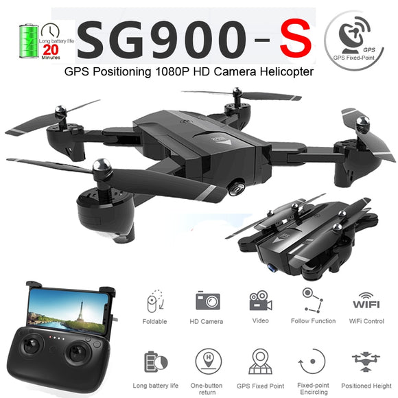 SG900-S SG900S GPS Foldable Profissional Drone with Camera 1080P HD Selfie WiFi FPV Wide Angle RC Quadcopter Helicopter Toys F11