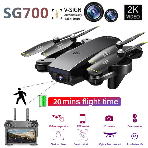 Drone SG700 RC Quadrocopter FPV Drones with Camera HD High Hold Mode Easy to Operate Mini Dron with HD Camera