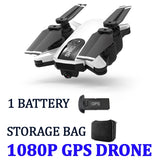 Drone GPS Foldable Global Positioning 500 Meters Distance Set Fly 1080P Camera HD FPV Professional gps Rc Quadcopter With Camera