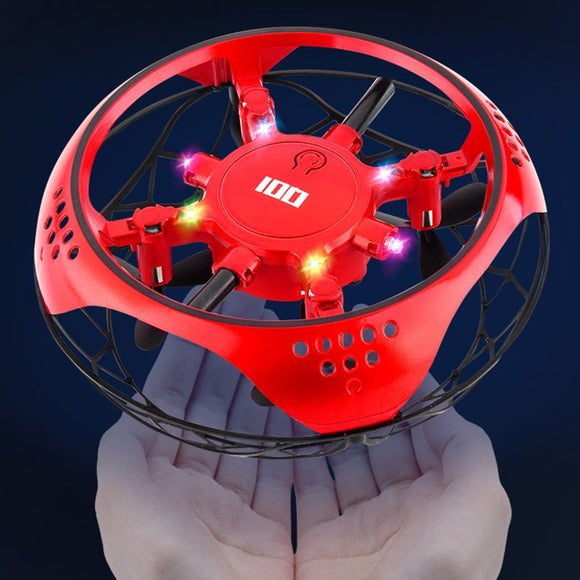Mini Flying Helicopter UFO RC Drone Hand Sensing Aircraft With 6 LED lights Electronic Quadcopter flayaball Toys for children