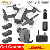 C-Fly DREAM Camera Drone Selfie RC Quadcopter With with GPS FPV Real-time HD Camera RC toy Drone PK dji mavic 2 pro