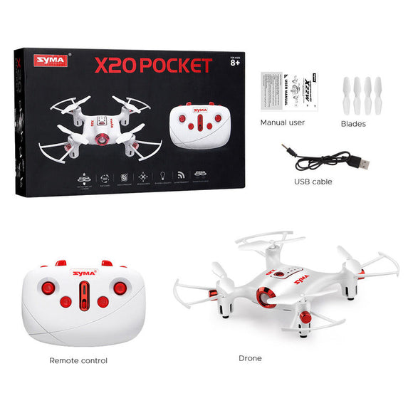 Pocket Drone 2.4G Mini RC Quadcopter Headless Mode Altitude Hold Quadcopter X20 Mini Dron Kids boys man gifts
