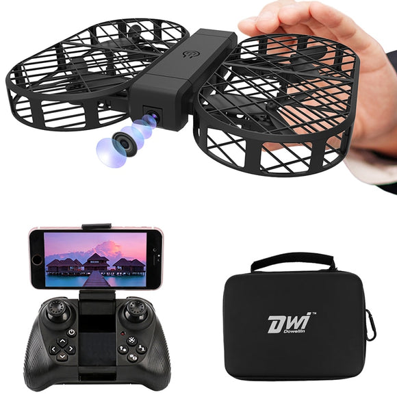 RC Quadcopter Foldable Drone with Camera hd 480P 720P FPV WiFi Control 2.4G 4CH 6 Axis Gyro with Bag Photo Video Dwi Dowellin D7