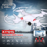 XKY KY101 RC Drone w/ Wifi FPV HD Adjustable Camera Altitude Hold One Key Return/Landing/ Take Off Headless RC Quadcopter Drone