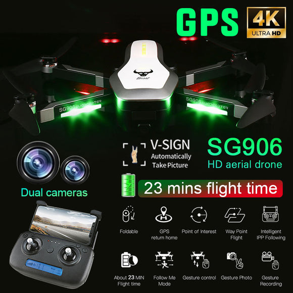 SG906 drone GPS 5G WIFI FPV 4K HD Camera dron Brushless Selfie Foldable RC Drone drones helicopter Free Bag Gift quadcopter