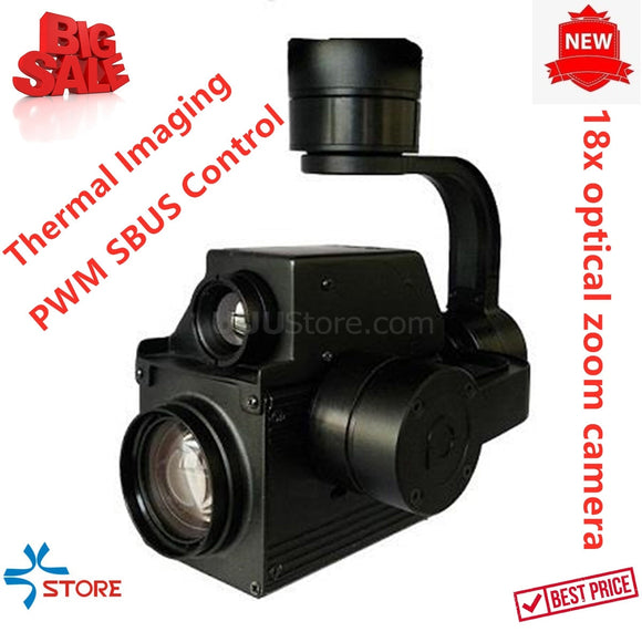 18X Dual Sensor of 4MP Zoom UAV Thermal Imaging Camera with 3 Axis Gimbal for UAV Drone Aerial Cinematography Inspection Rescue