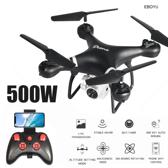 EBOYU LF608 2.4Ghz RC Drone 1080P Wifi FPV HD Camera Altitude Hold One Key Return/Landing/ Take Off Headless RC Quadcopter Drone
