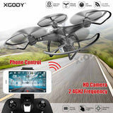 XGODY RC Camera Drone 0.3MP HD Camera Professional FPV RC Quadcopter Mini 2.4Ghz WIFI Airplane For Kids Gift