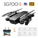 SG700-S WiFi RC Quadcopter With 4K Camera Wide Angle Selfie Drone Palm Control Helicopter with HD Dual Cameraone-click Return