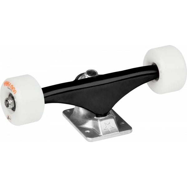 Mini Logo -Truck Assembly 8.0 black/raw, white wheels 53mm 101a