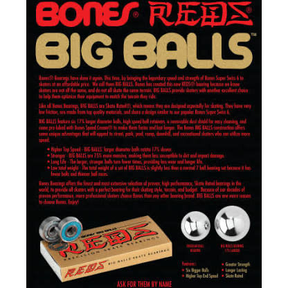 Bones Bearings- Reds Big Balls