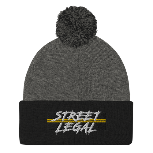 Street Legal Pom-Pom Beanie
