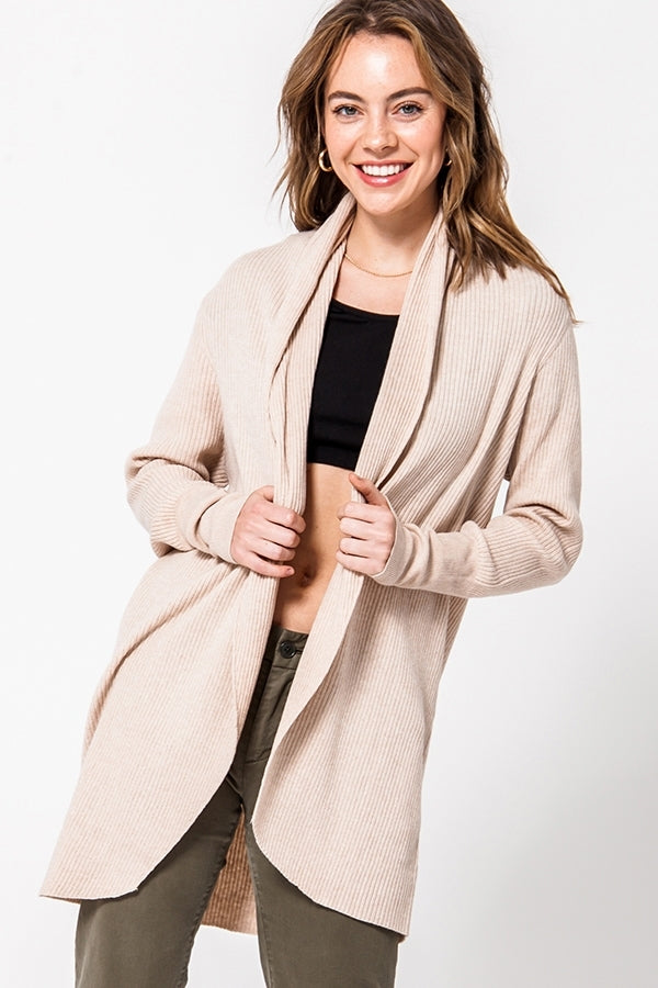 Hold The Taupe Cardigan
