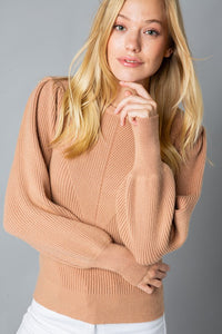 In Good Spirits Puff Sleeve Sweater