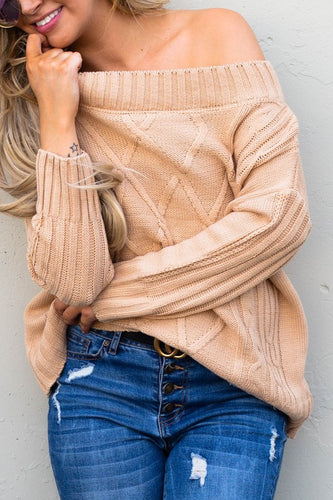 The Tahoe Off The Shoulder Sweater