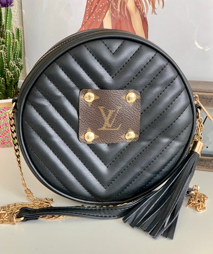 Del Mar Round Cross Body - Black