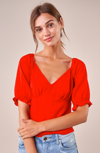 Load image into Gallery viewer, Nyah Flounce Sleeve Blouse