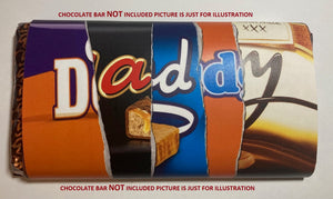 DADDY Novelty Chocolate Wrapper Fathers Day Gift *WRAPPER ONLY-NO CHOCOLATE BAR*