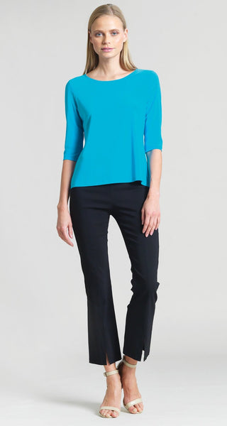 Solid Basic Scoop Neck Half Sleeve Top T77 *multiple colors available*