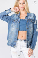 AVVIO LA AV646191 Fashion Tour Denim Jacket