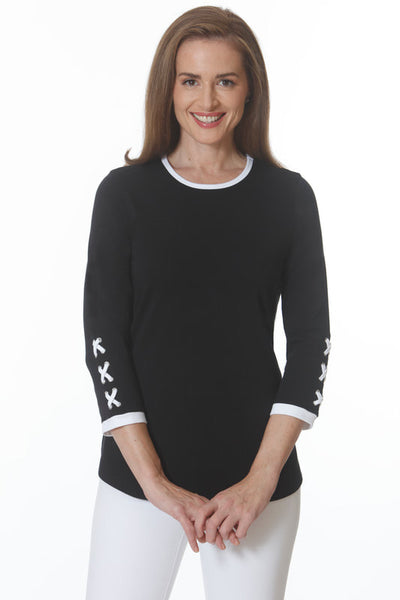 E.L.I 564 Pima Cotton X Sleeve Tunic