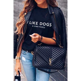 LA TRADING CO T- I LIKE DOGS T-shirt Black