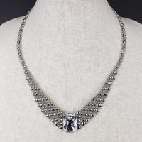 SG LIQUID METAL ICN3-N CHROME FINISH NECKLACE BY SERGIO GUTIERREZ