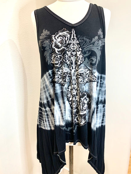 VOCAL 8440T Tie Dye Tunic