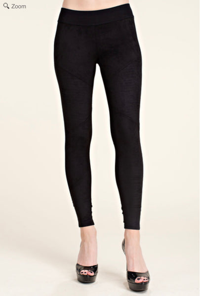 VOCAL IM0873P suede moto Legging - Black only
