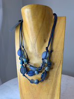 DEBORAH GRIVAS DN835-M-LAB Necklace, Navy
