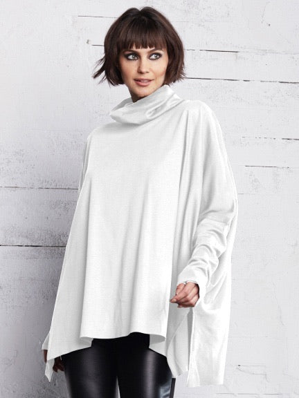 PLANET 2039T Cowl Tee - White