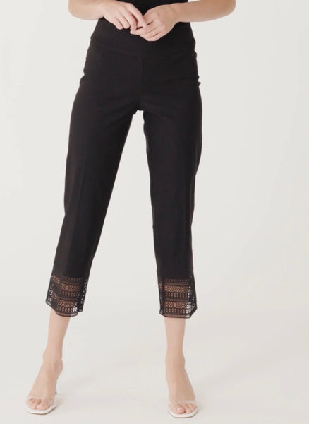 UP! 66681 Crop Pant with Crochet Trim